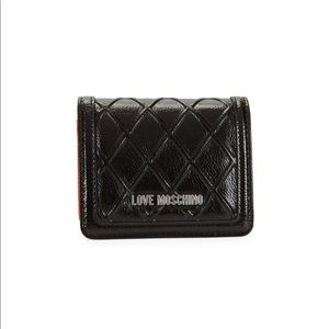 Love Moschino Embossed Bi-Fold Snap Wallet